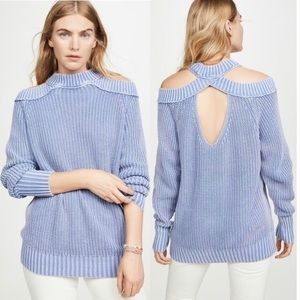 Free People Half Moon Bay Cold Shoulder Sweater